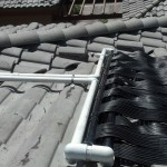 Grey Venetian solar heaters