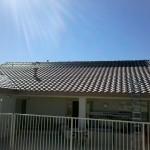 Black Solar Pool Roof Heating System