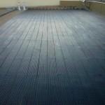 Flat rooftop solar heating tube