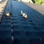 Installed Solar Roof Heaters