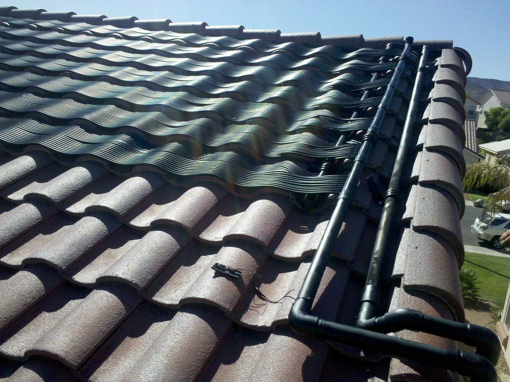 Solar Pool Heater Installation