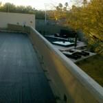 black solar tube on Las Vegas rooftop
