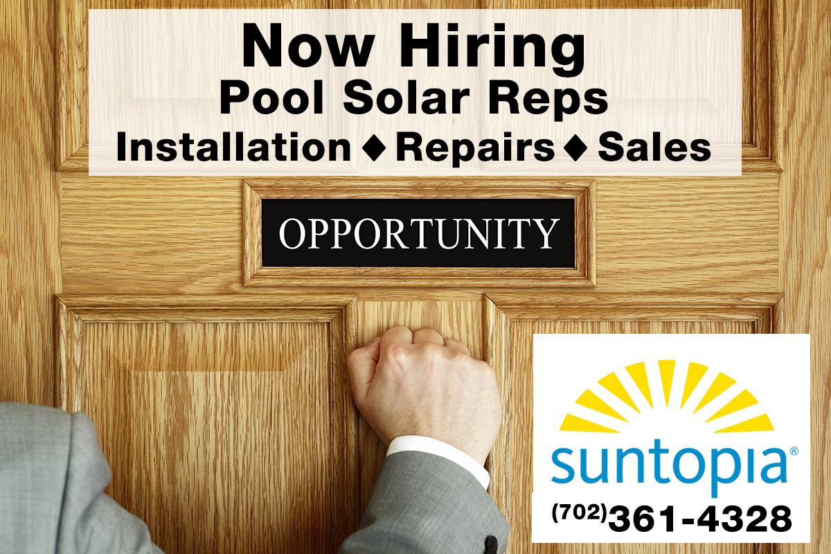 Solar Pool Rep Job Opening