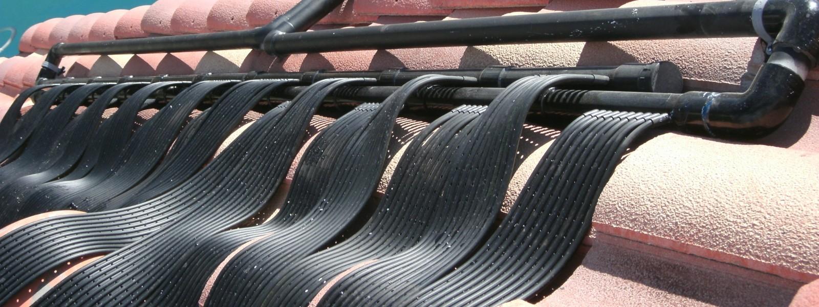 All black solar heaters