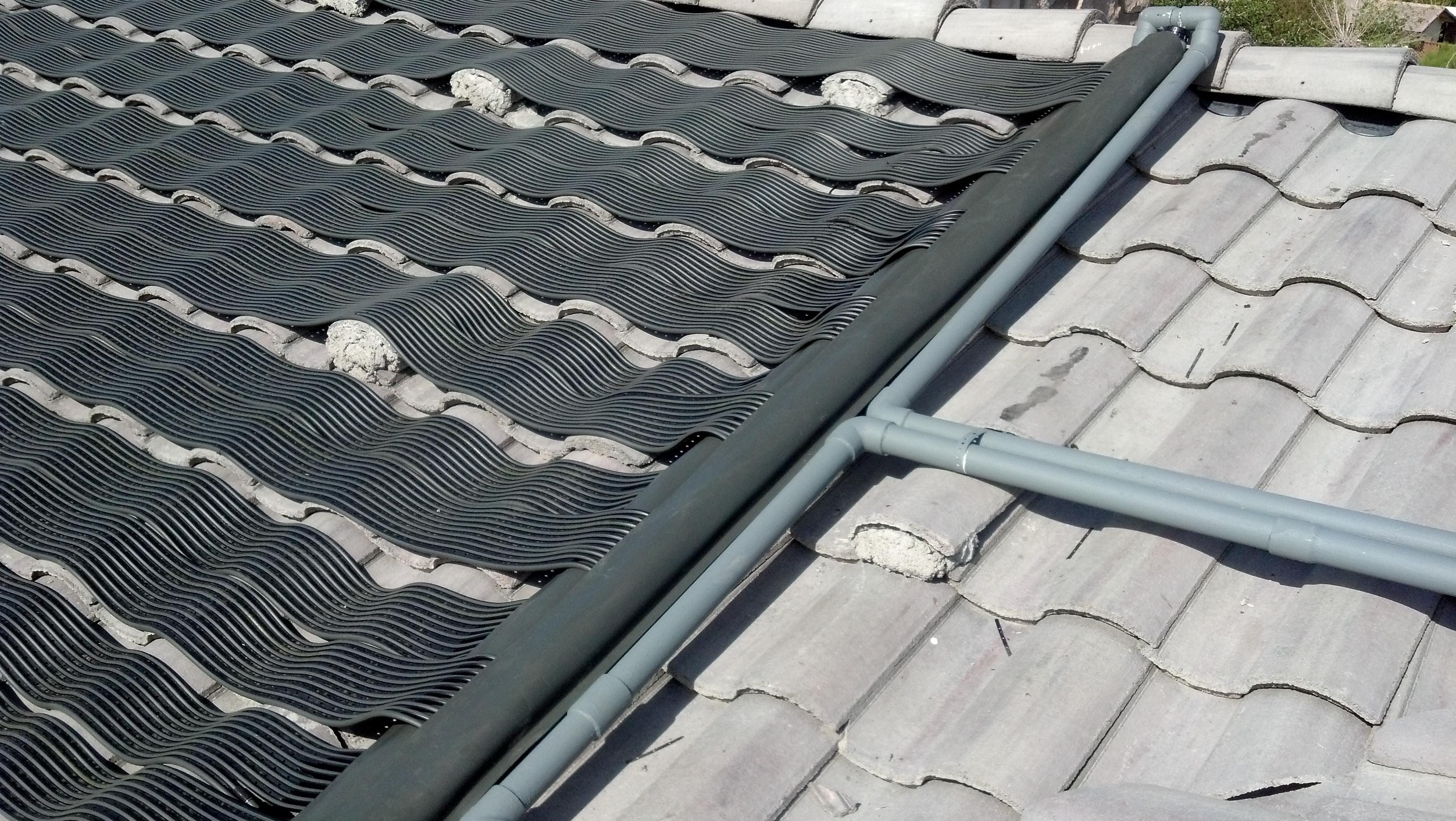 Grey Venetian Solar Heating Panels Suntopia Solar Pool