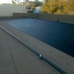 Flat Roof black solar tubing