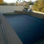 black heating tube on flat roof