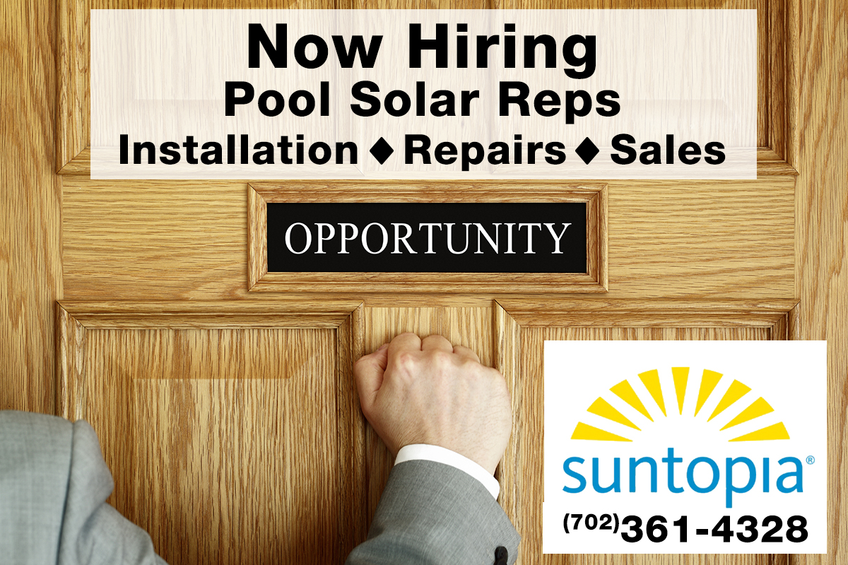 Solar Pool Rep Job Opening